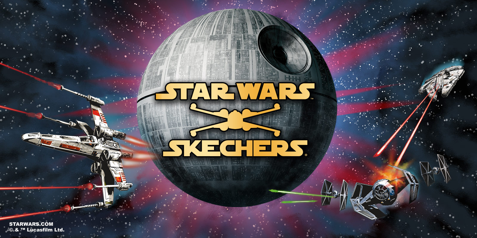 Find Skechers Star Wars shoes for boys on Skechers.com.  Classic and Force Awakens