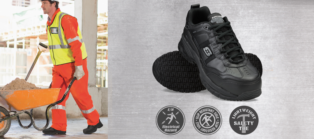 Find men's Skechers Work Safety Toe steel and composite toe shoes and boots on skechers.com