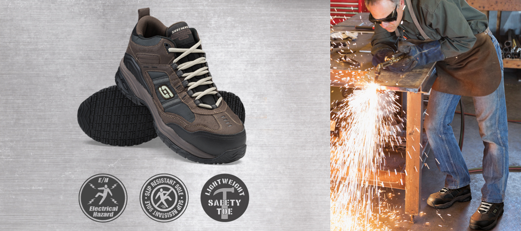 skechers work shoes safety electrical hazard safe insulated voltage