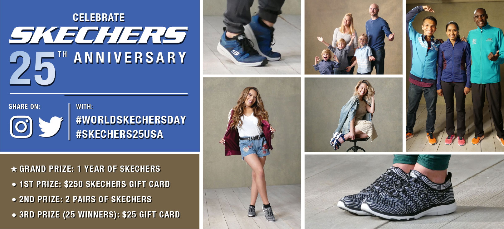 Celebrate Skechers 25th Anniversary and show off your style!