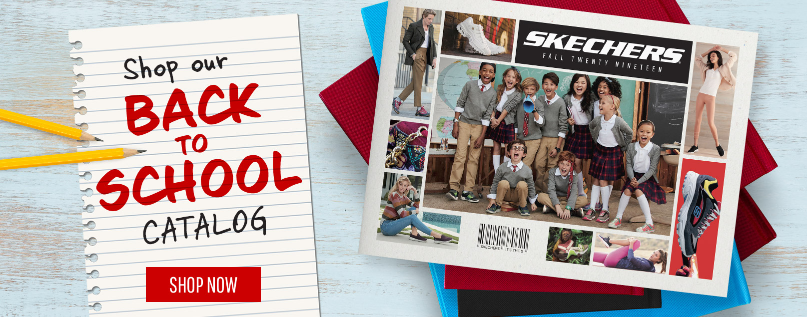 Make sure they're all cool when they go back to school with SKECHERS!  Shop our new Back to School catalog with the latest looks for boys, girls, men and women.