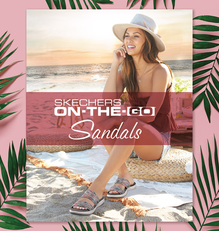 6fc0a3f236d97 Enjoy amazing comfort and summery style with the Skechers On the GO Sandal  collection. From