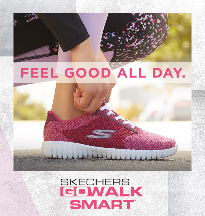 f48db575743 Get cute, comfortable and smart walking comfort with the Skechers  Performance GOwalk Smart. A