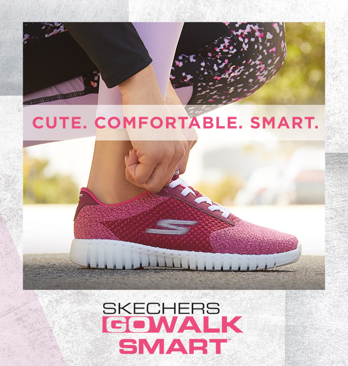 cb5dbc49baa Get cute, comfortable and smart walking comfort with the Skechers  Performance GOwalk Smart. A