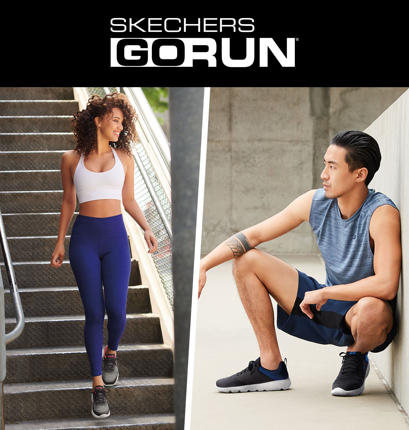 Get the latest in running style and technology with the new collection of Skechers GOrun shoes.  Well cushioned runners from stabiilty to lightweight designed for training runs, fitness running and long distances with advanced comfort including new Hyper Burst shoes.