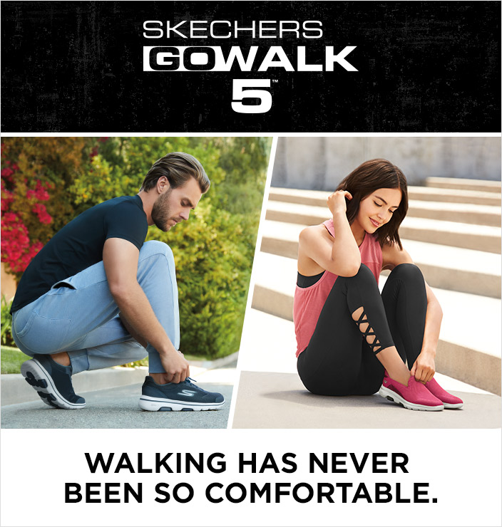 Walking has never been as comfortable than with the Skechers GOwalk 5.  Super comfortable with Air Cooled Goga Mat insoles and Comfort Pillar Technology for support, and machine washable as well.