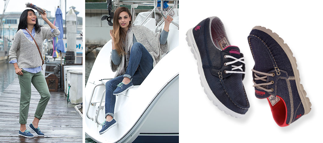womens skechers performance on the go boat shoes casuals gowalk