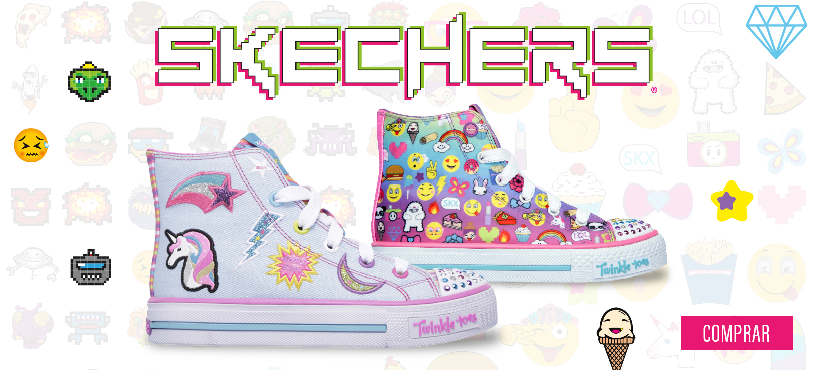 zapatillas skechers emoji