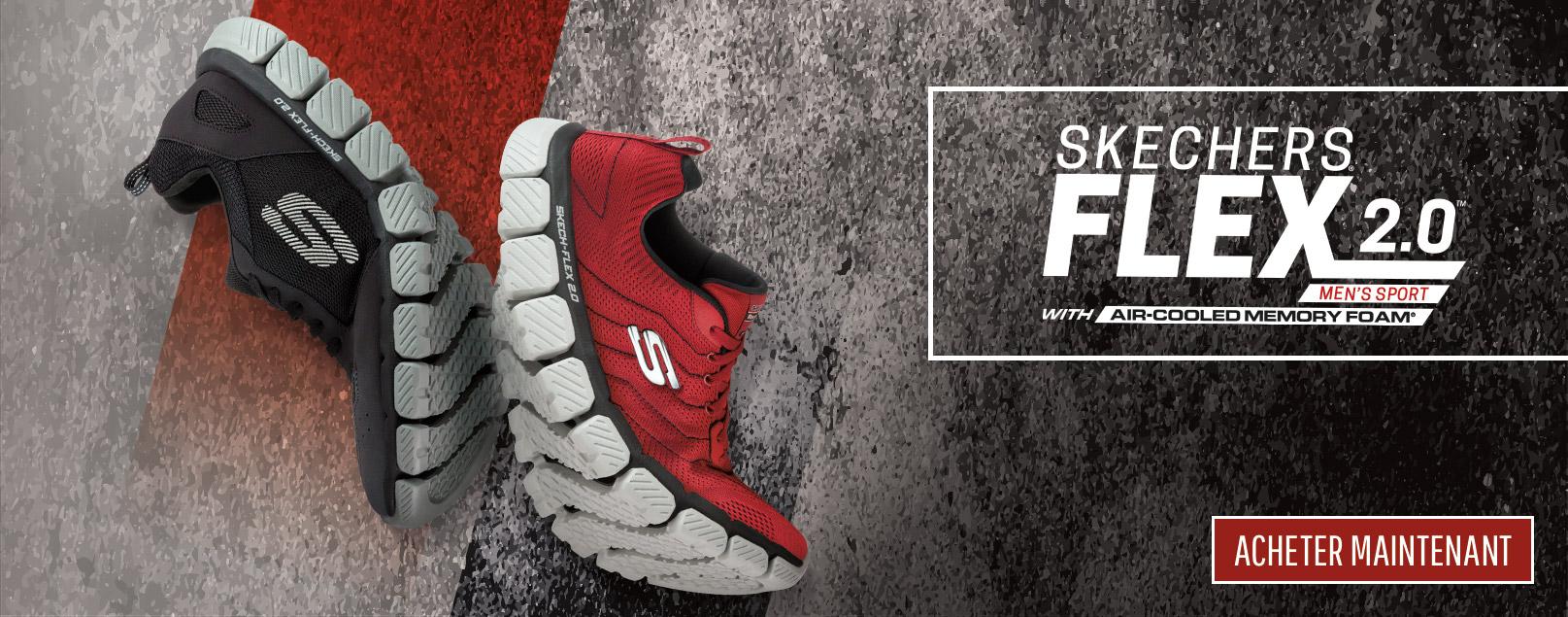 Chaussures de sport SKECHERS pour hommes de style athlétique avec le confort mousse mémoire