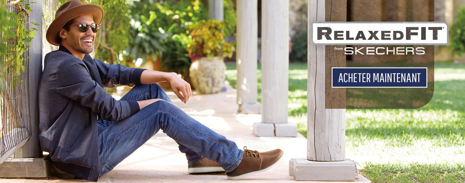 Magasiner les chaussures de loisirs Skechers pour hommes incluant Relaxed Fit avec Memory Foam