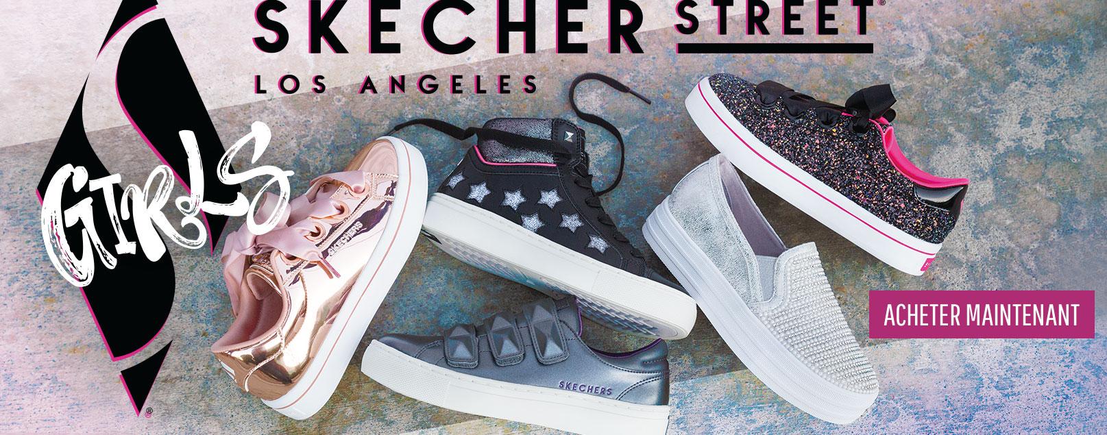 Chaussures Skechers pour filles incluant Twinkle Toes, Sport avec Mousse Mémoire, chaussures de loisirs et bottes